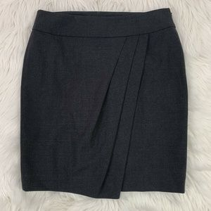 Ann Taylor Wool Straight Pencil Gray Career Skirt